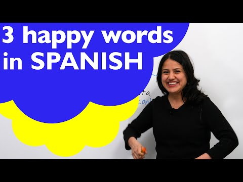 How to talk about being HAPPY in SPANISH: feliz, alegre, content…