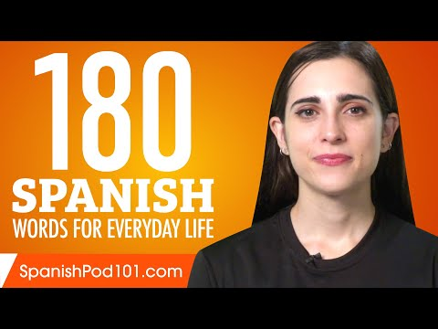 180 Spanish Words for Everyday Life – Basic Vocabulary #9