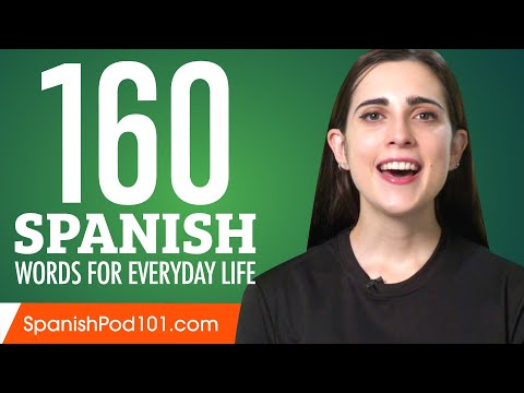 160 Spanish Words for Everyday Life – Basic Vocabulary #8