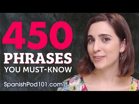 450 Basic Spanish Phrases – Great Enlightening Video!